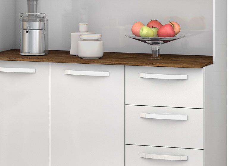 Armário de Cozinha Diamante 5 Portas Branco - Vitamov