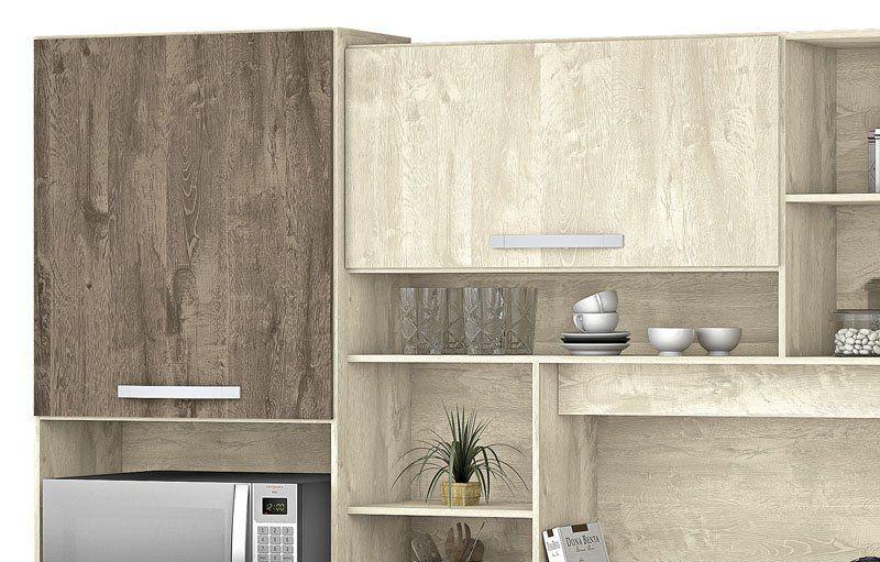 Armário de Cozinha Diamante 7 Portas Ártico com Amêndoa - Vitamov