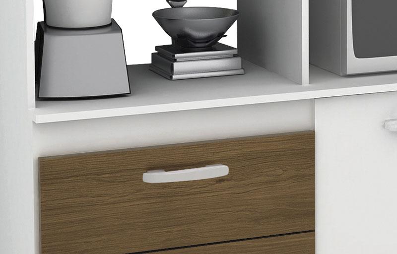 Armário de Cozinha Galax Branco Amêndoa - Móveis Primus