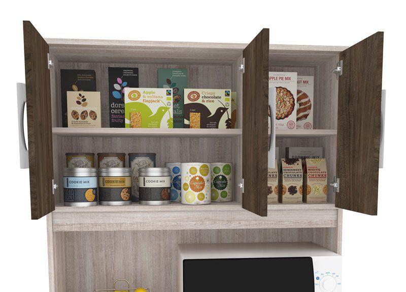 Armário de Cozinha Madri 5 Portas Elmo com Carvalho - Madine
