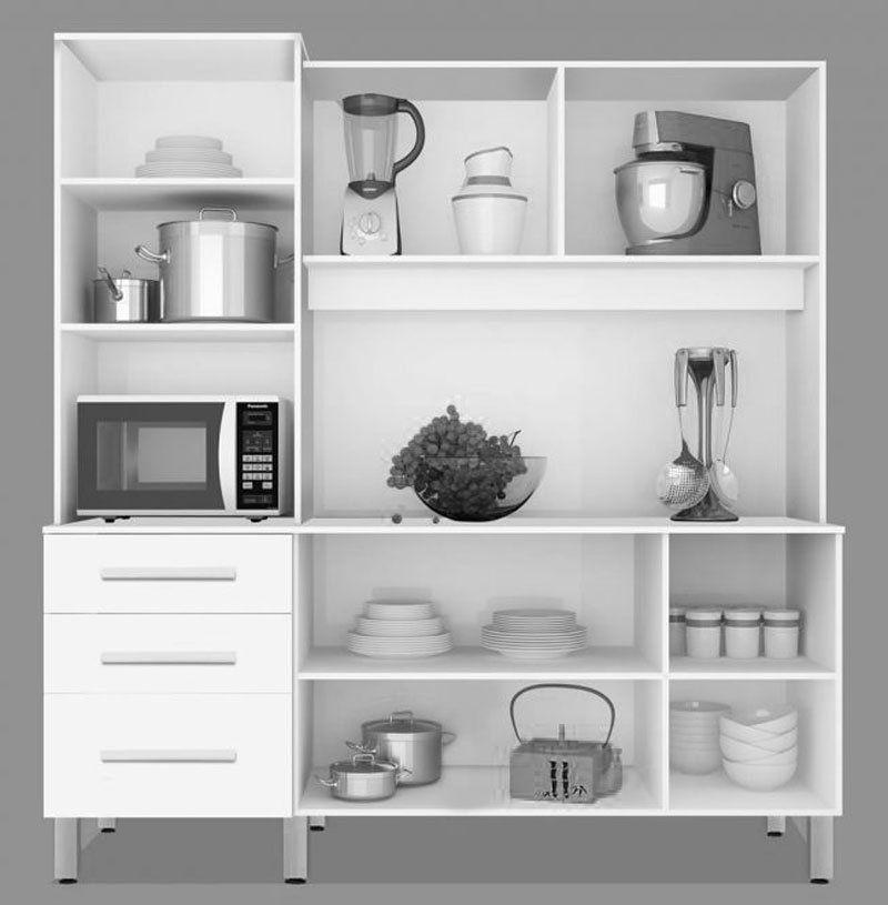 Armário de Cozinha México 1.8 Branco - CSA Móveis
