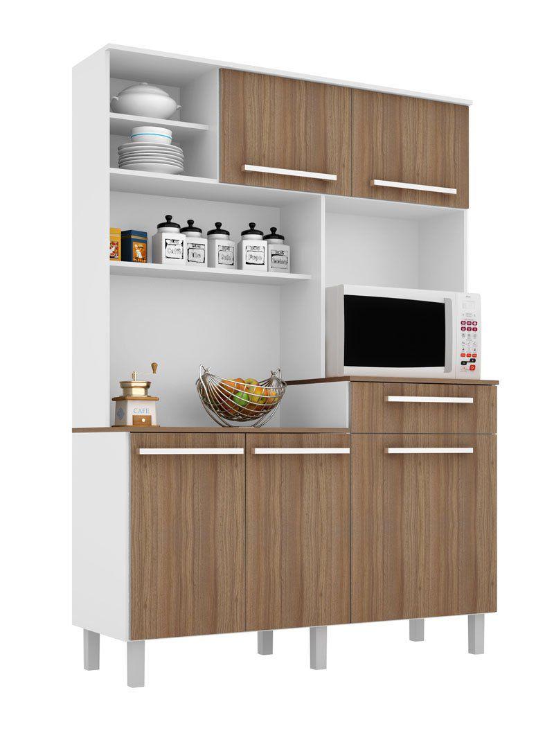 Armário de Cozinha Safira Branco com Montana - Madine