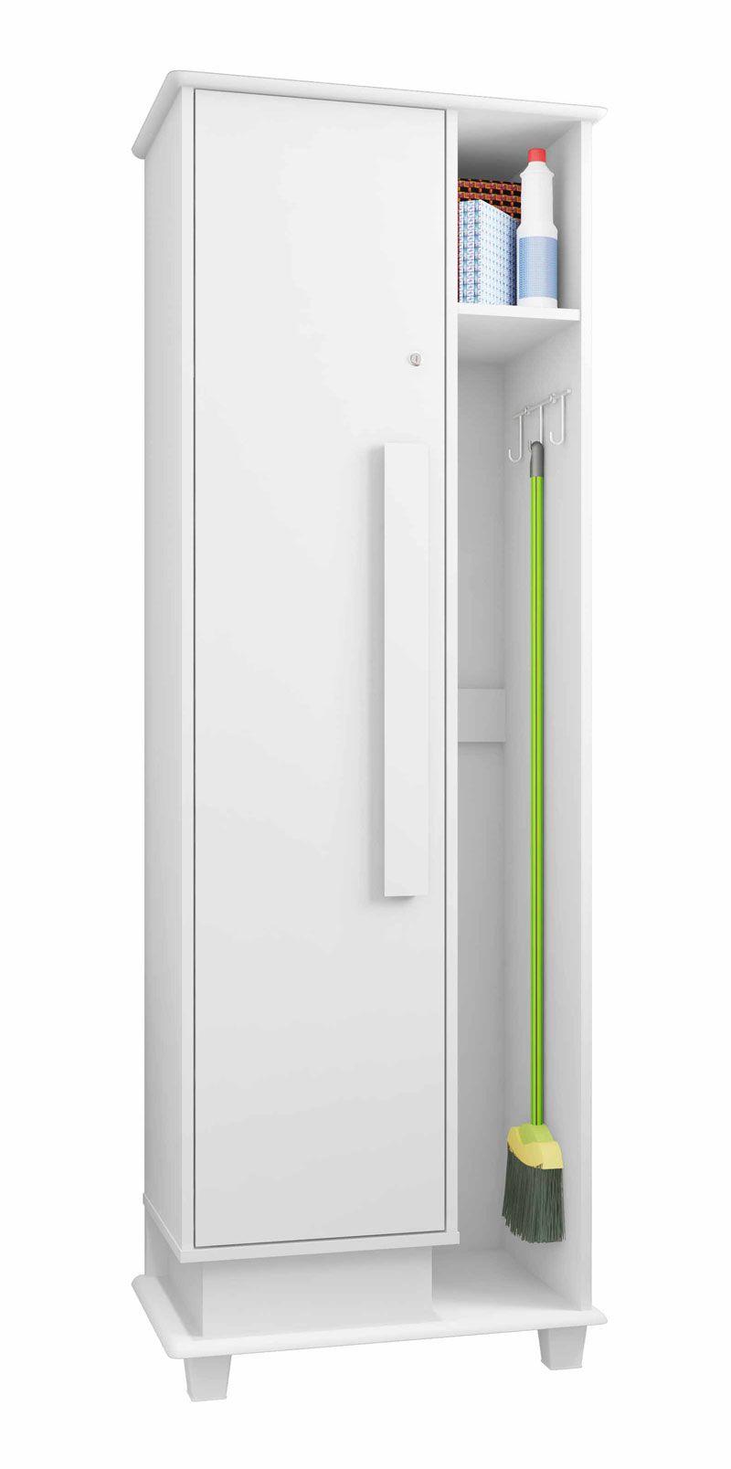 Armário Multiuso Bérgamo Branco - RV Móveis  - MoveisAqui - Loja de móveis online!