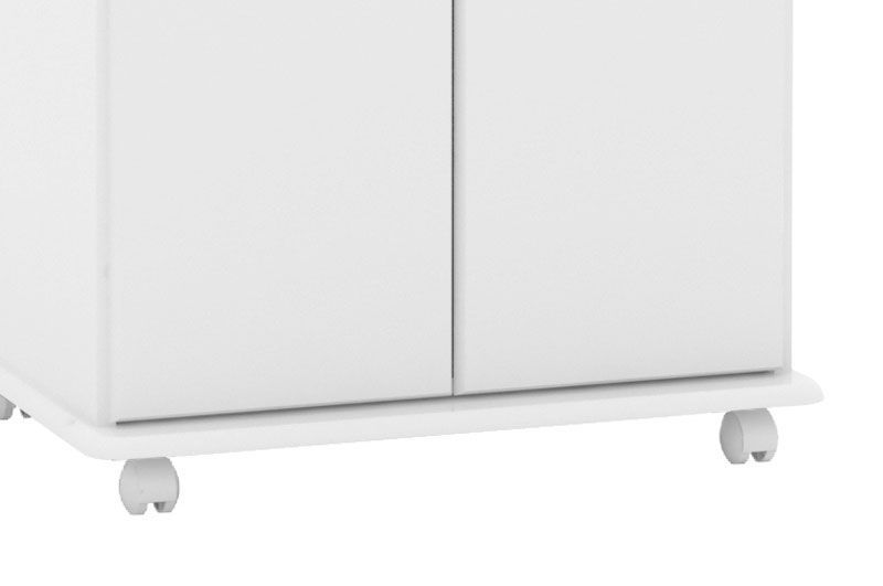 Armário Multiuso Flex Branco com Mármore - EJ Móveis