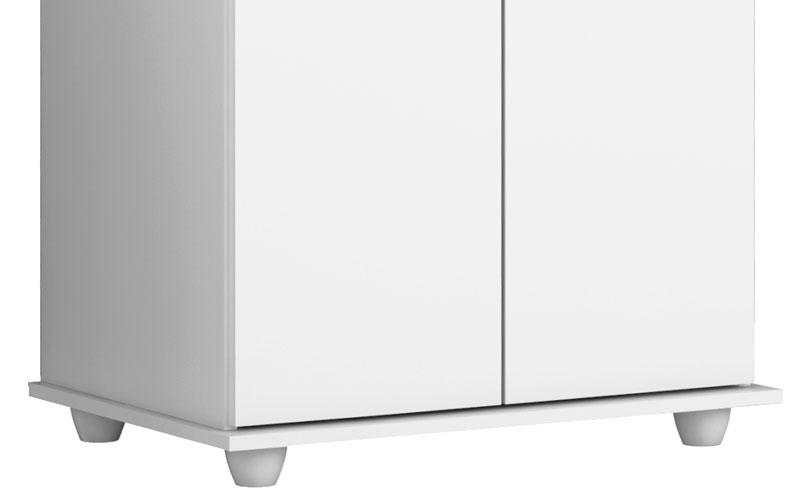 Armário Multiuso Ônix Branco - Germai Móveis  - MoveisAqui - Loja de móveis online!