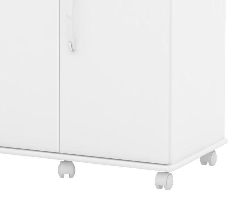 Balcão de Cozinha 3 Portas Uruguay Branco - EJ Móveis  - MoveisAqui - Loja de móveis online!