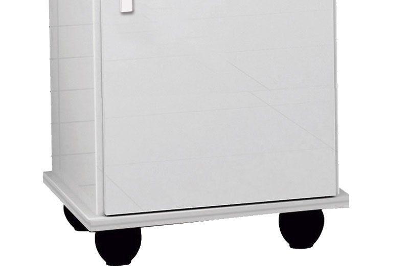 Balcão para Bebedouro Rubi 1 Porta Branco Brilho - Trinobél Móveis