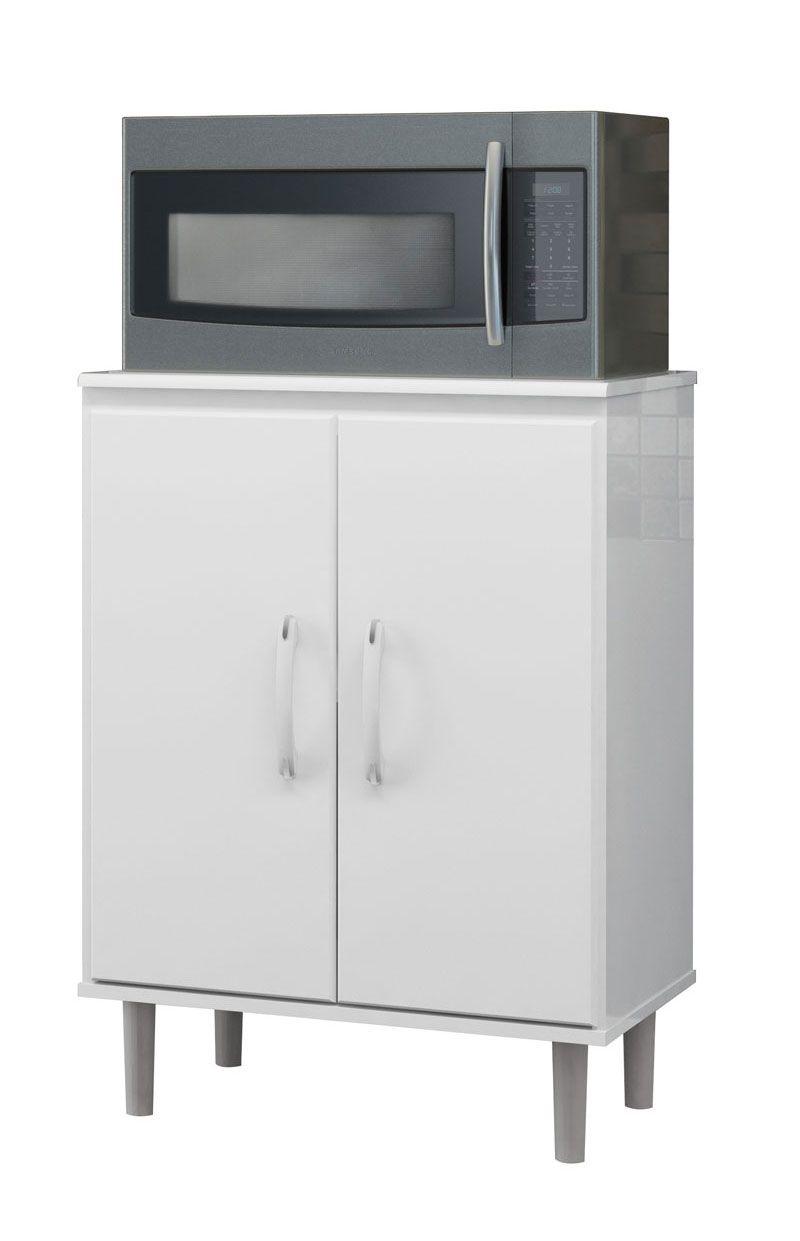Balcão para Micro-ondas Branco - EJ Móveis