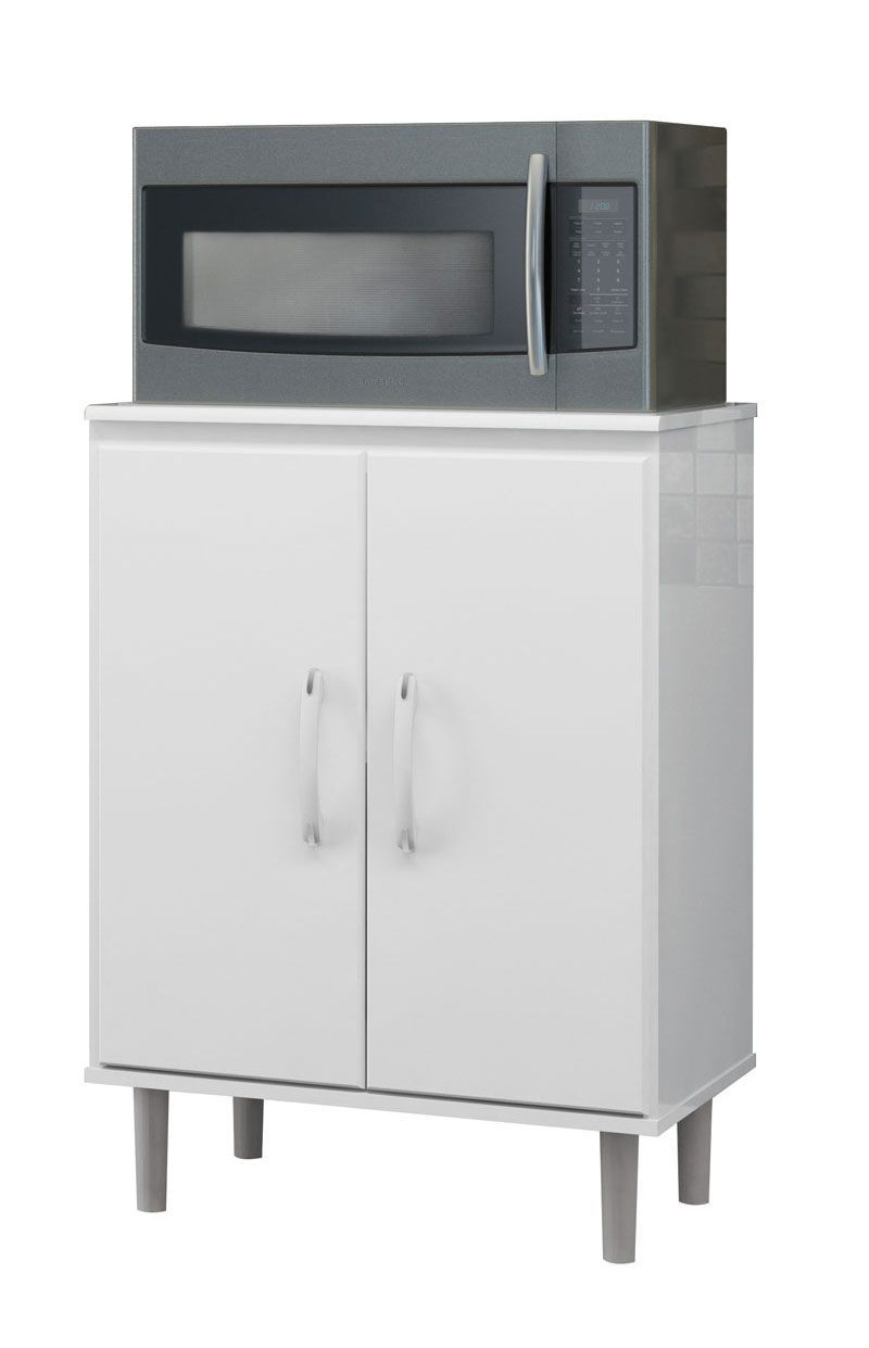 Balcão para Microondas Branco - EJ Móveis