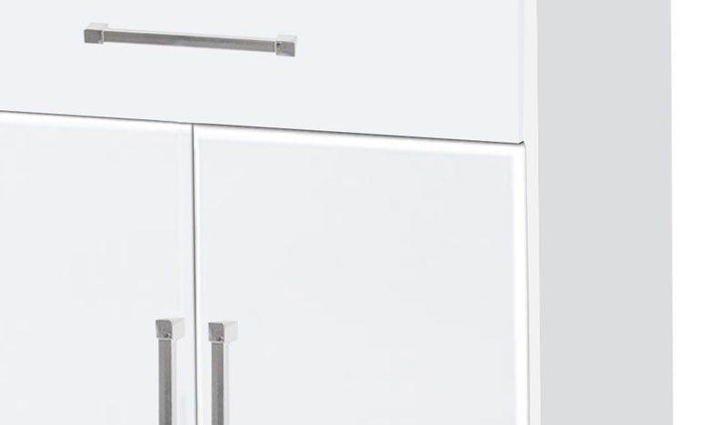 Balcão para Micro-ondas Ipê Branco - Móveis Primus