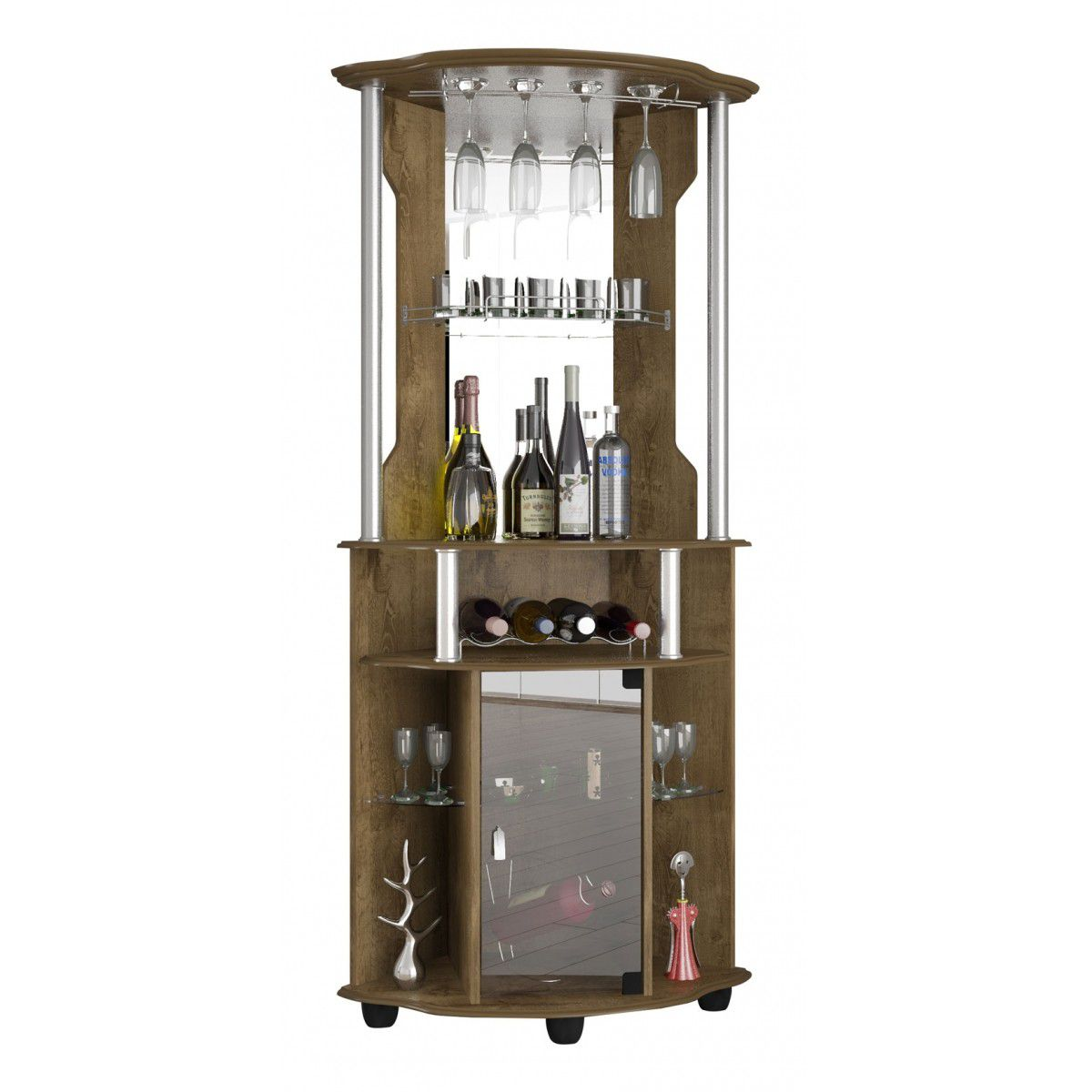 Bar Talismã Plus II Madeira Rústica - Móveis Bechara