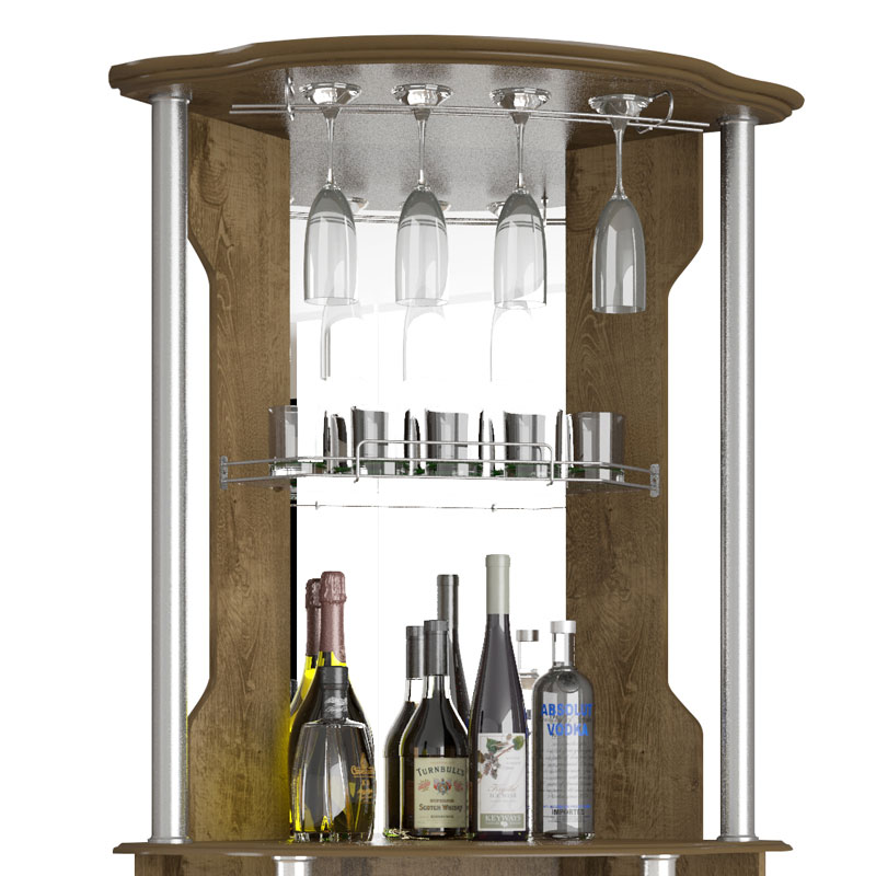 Bar Talismã Plus II Madeira Rústica - Móveis Bechara  - MoveisAqui - Loja de móveis online!