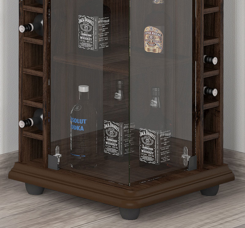 Barzinho de Canto para Sala Drink New Ameixa - Imcal  - MoveisAqui - Loja de móveis online!