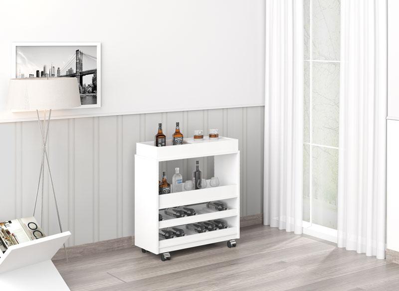 Barzinho para sala Surf Plus Branco - Imcal  - MoveisAqui - Loja de móveis online!