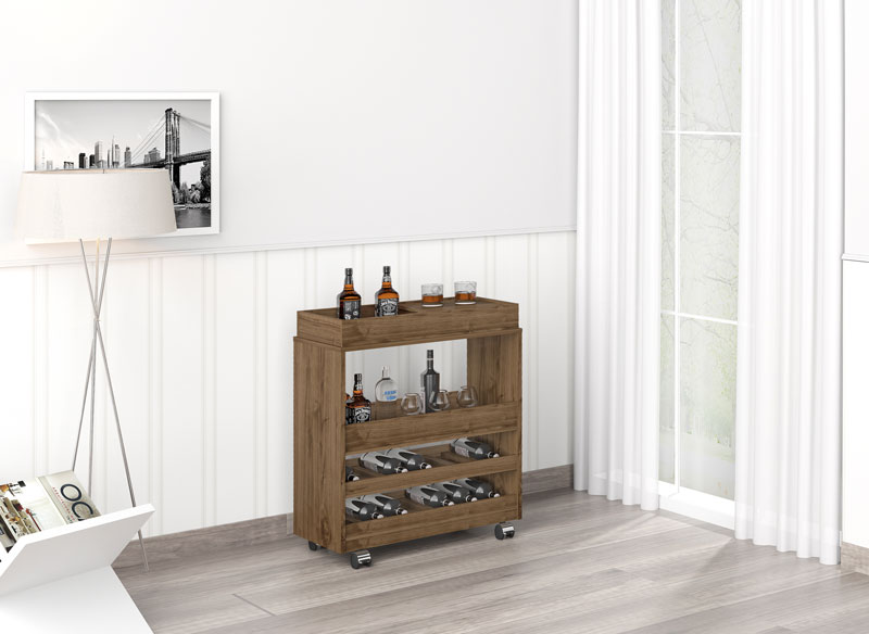Barzinho para sala Surf Plus Canela - Imcal  - MoveisAqui - Loja de móveis online!