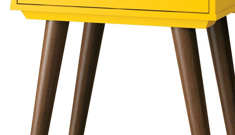 Barzinho Retrô com Adega Martini Amarelo - EDN Móveis