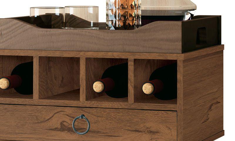 Barzinho Retrô com Adega Martini Naturale - EDN Móveis