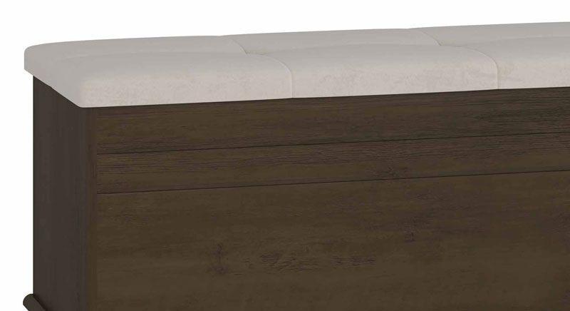 Bau Gênova com Capitone Noce - RV Móveis