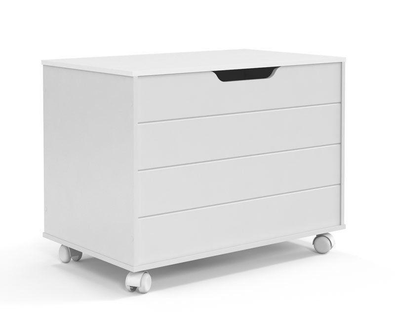 Baú Toy Branco Brilho - Matic Móveis
