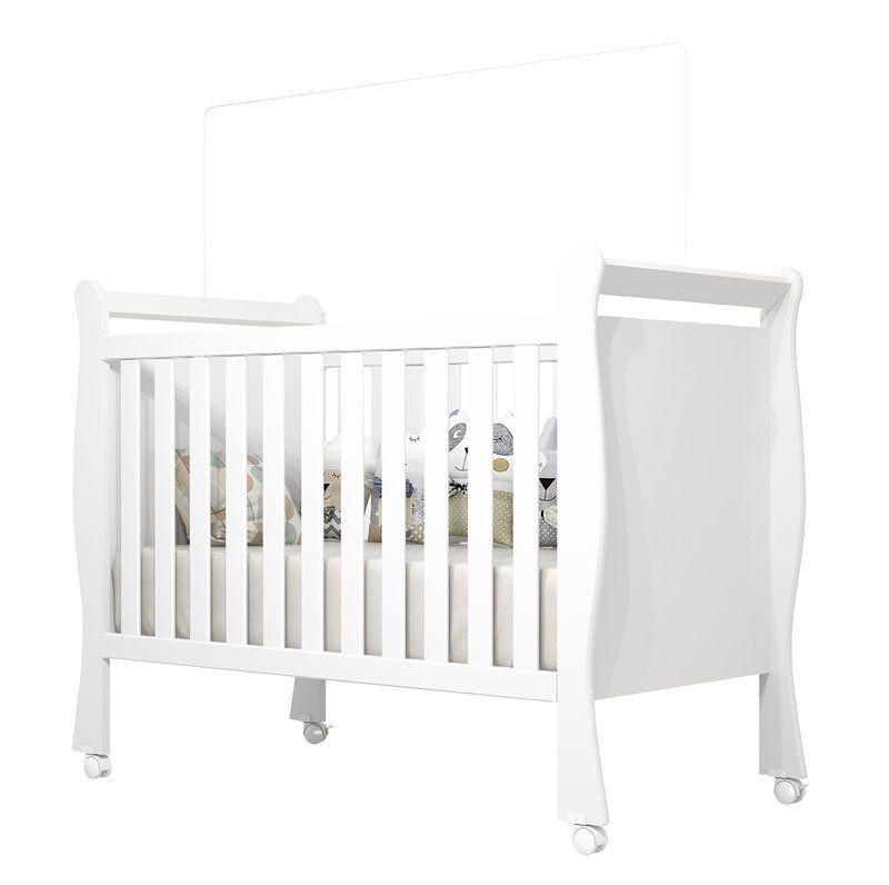 Berço Americano Branco Acetinado Baby - Imaza Móveis
