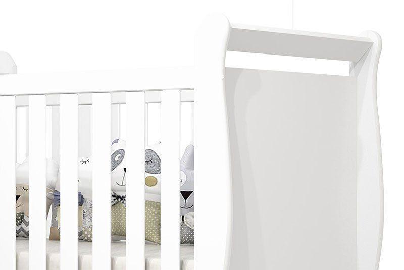 Berço Americano Branco Brilho Baby - Imaza Móveis
