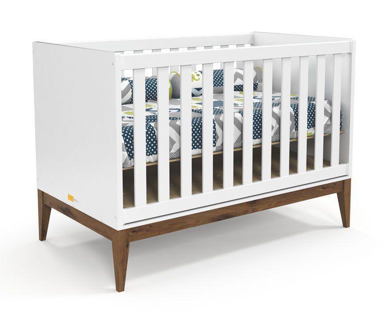 Berço Americano Nature Branco Soft com Eco Wood - Matic Móveis