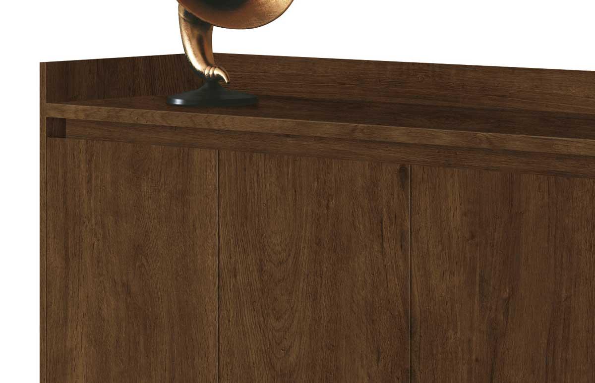 Buffet Aparador Retrô Clássico 4 Portas Malbec - MoveisAqui