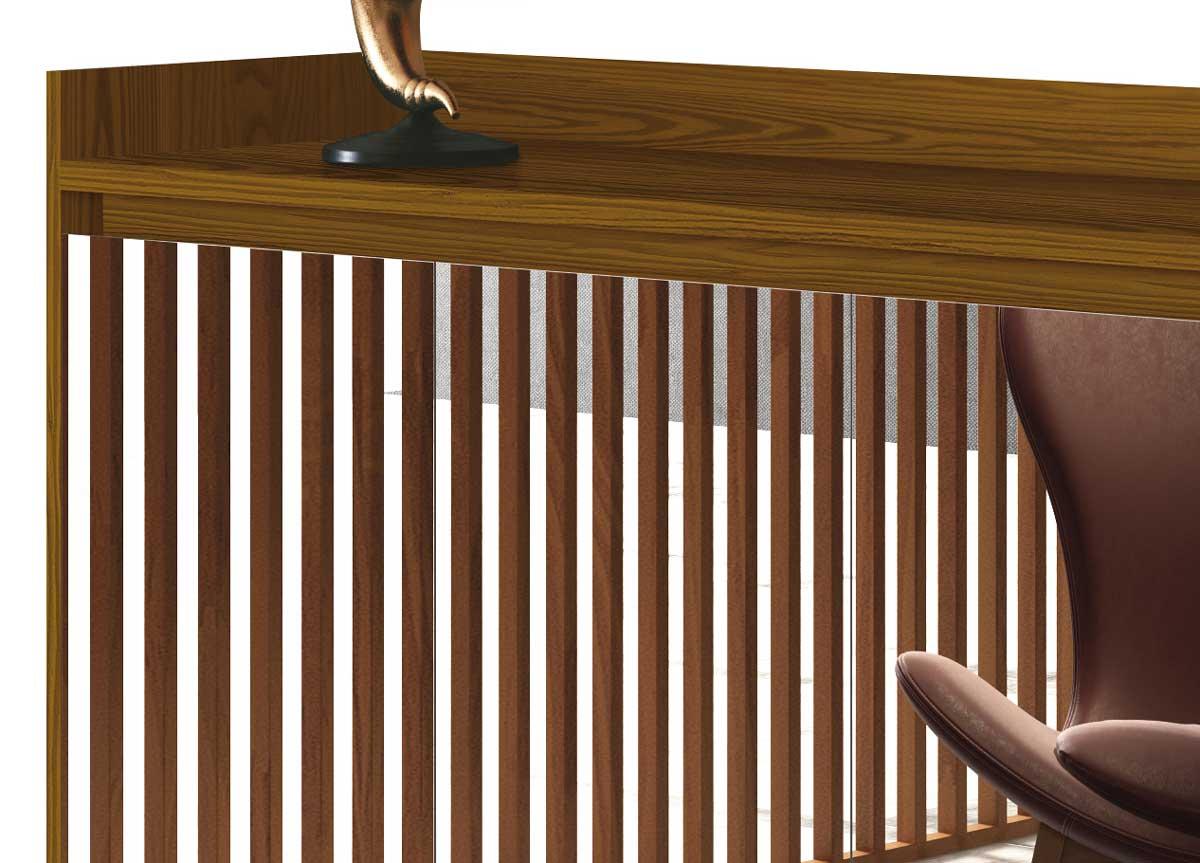 Buffet Aparador Retrô com Espelho Clássico 4 Portas Freijó - MoveisAqui
