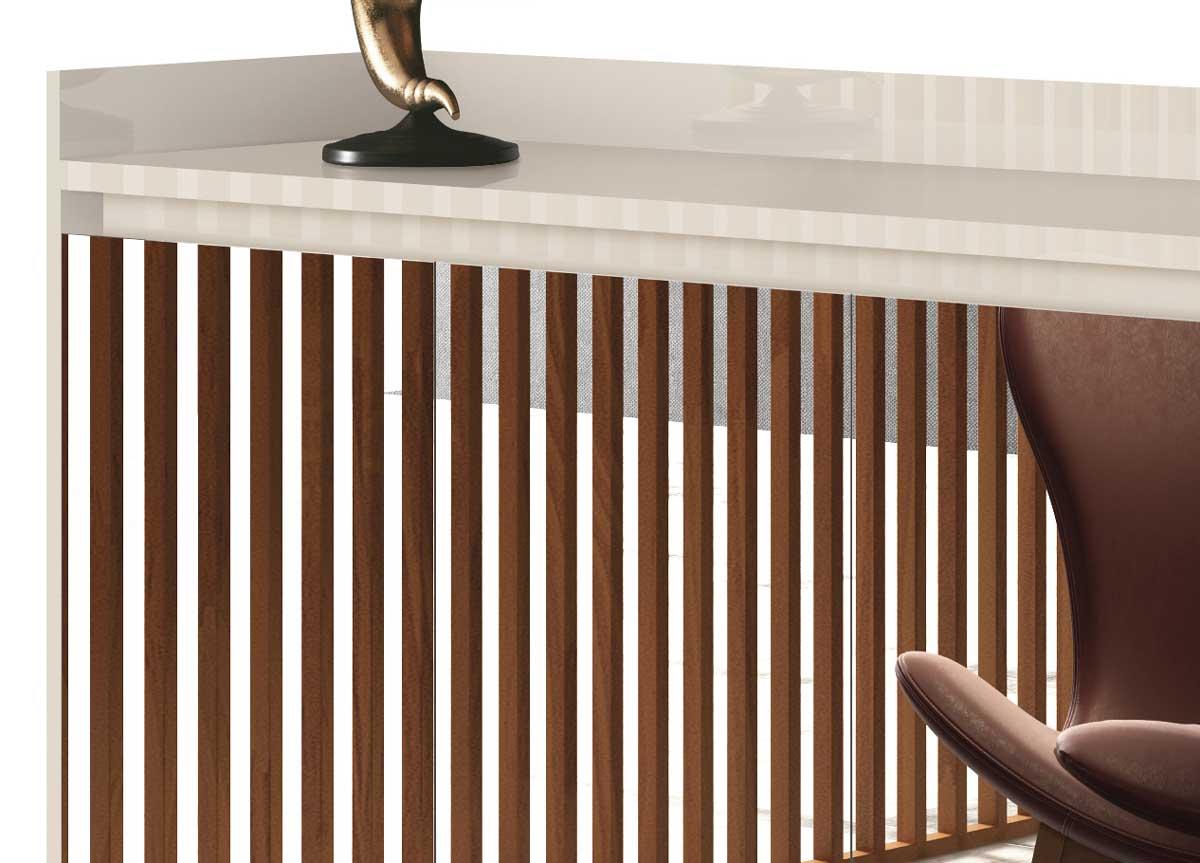 Buffet Aparador Retrô com Espelho Clássico 4 Portas Off White - MoveisAqui
