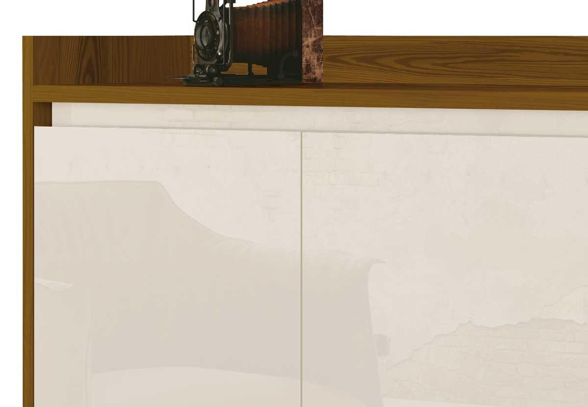 Buffet Aparador Retrô Delux 3 Portas Freijó com Off White - MoveisAqui