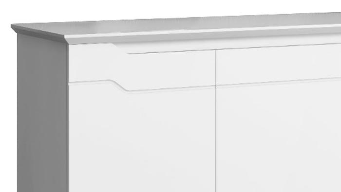 Buffet Aparador Retrô Truzzi Branco com Castanho - Imaza Móveis