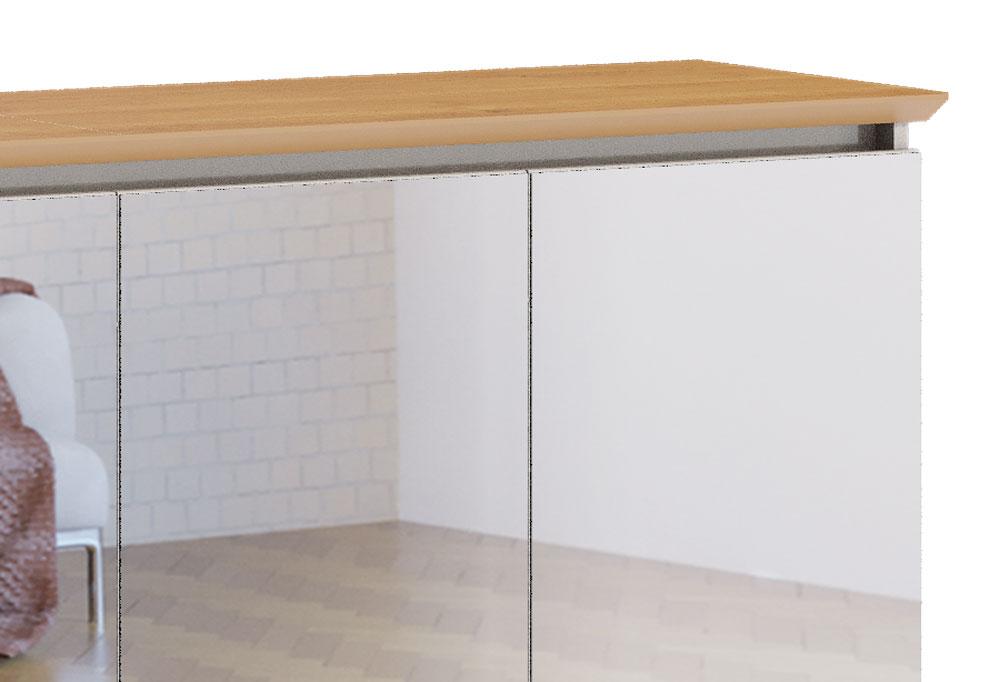 Buffet Classic Off White com Nature e espelho - Imcal Móveis