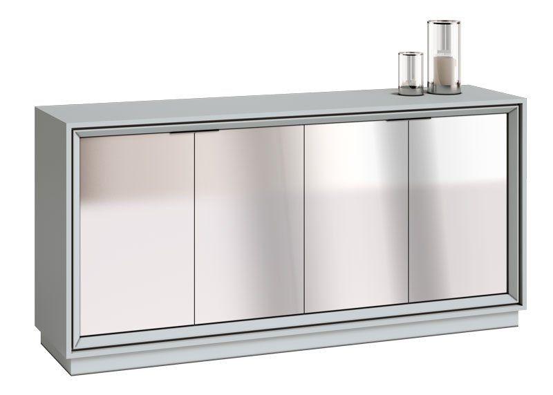 Buffet Ópera Branco Acetinado com espelho - Imcal Móveis