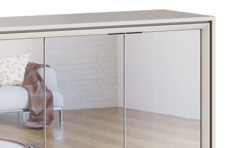 Buffet Ópera Off White com Espelho - Imcal Móveis