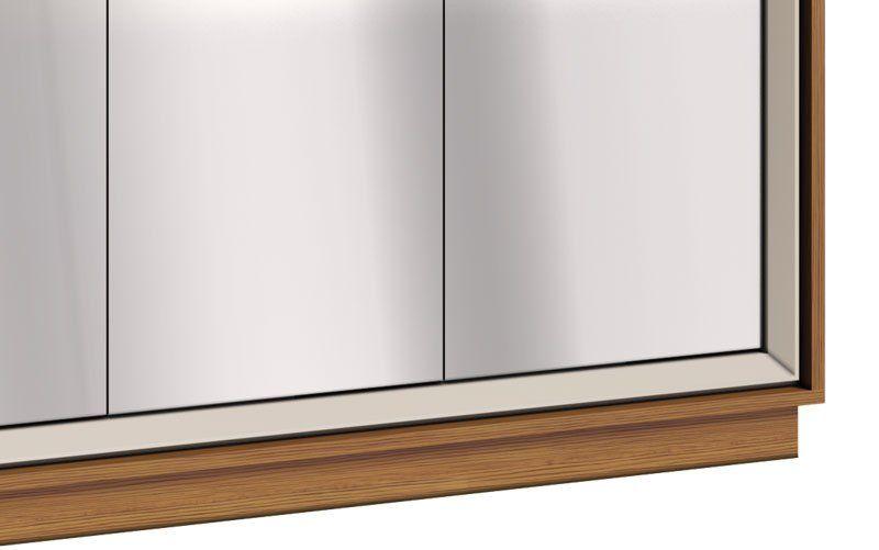 Buffet Ópera Off White com Freijó e espelho - Imcal Móveis
