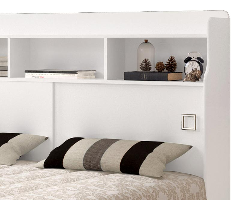 Cabeceira Casal 1,40 Jéssica Branco - Cambel Móveis