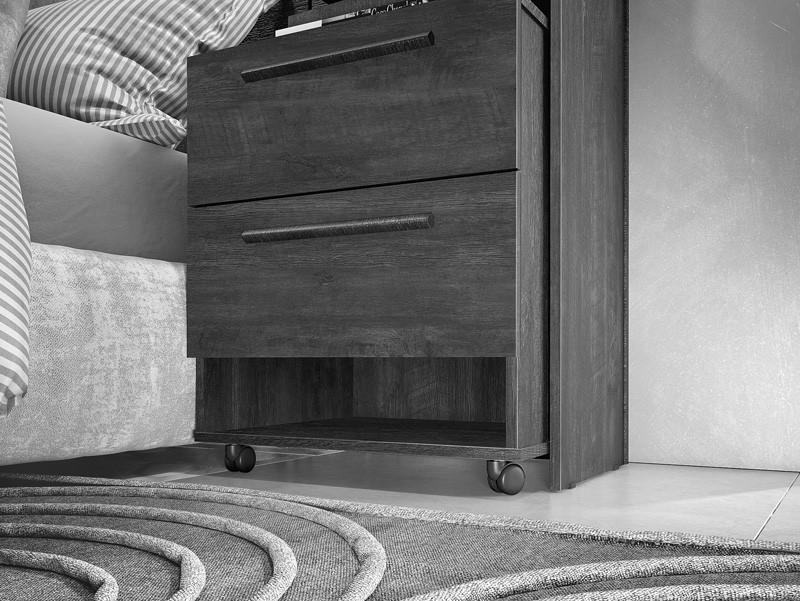 Cabeceira Casal Box com Criado-Mudo Milano Niagara - FabriMóveis