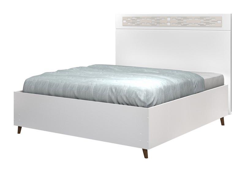 Cabeceira com Base Box Casal Maitê Branco com Off White - Cambel Móveis
