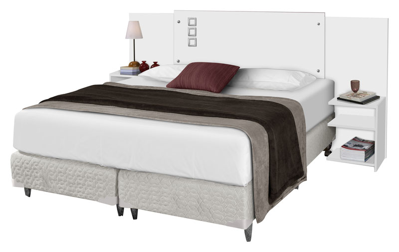 Cabeceira Casal Queen Size Portugal Branco - Tebarrot Móveis  - MoveisAqui - Loja de móveis online!
