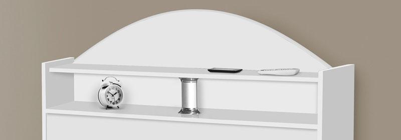 Cabeceira de Solteiro Sicília Branco - Tebarrot Móveis
