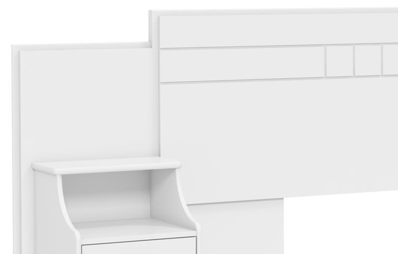 Cabeceira Extensível Casal com Criado-Mudo Magnífica Branco - Fênix