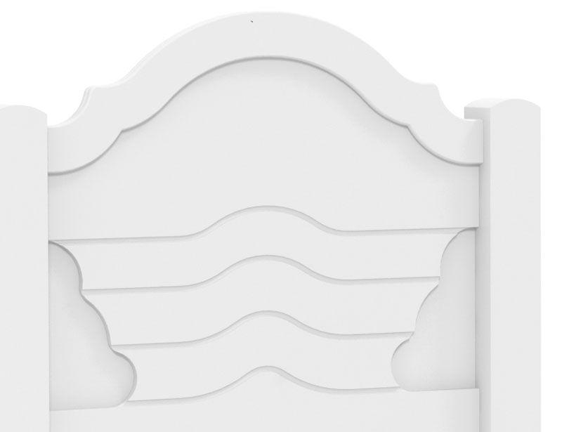 Cabeceira Solteiro Master Completa Branco - Fênix