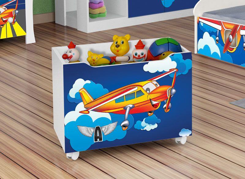 Caixa para Brinquedo Avião - JeA Móveis