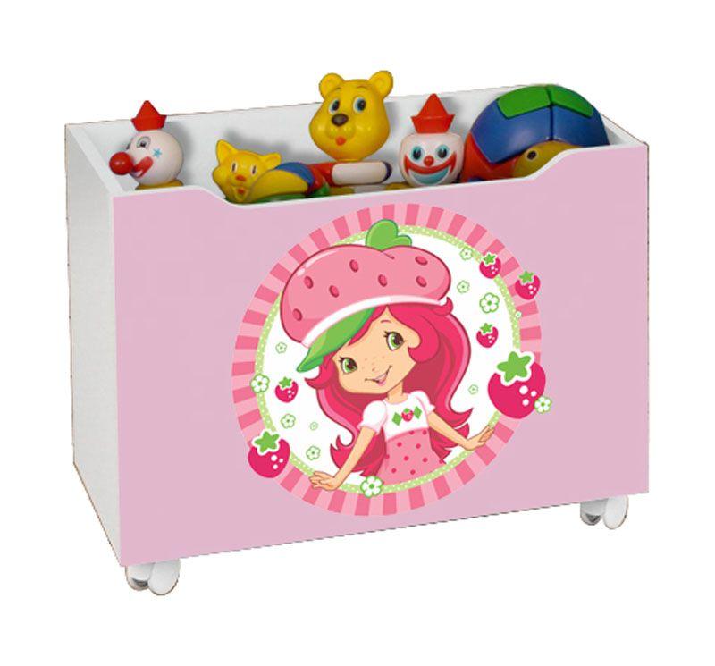 Caixa para Brinquedo Lara Moranguinho - JeA Móveis