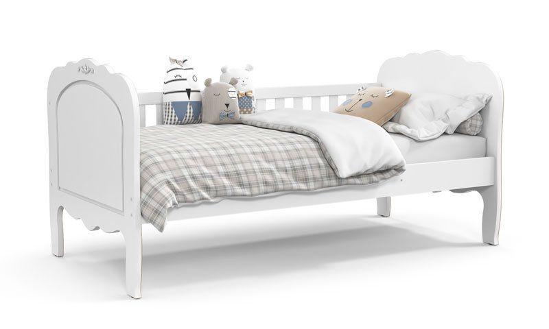 Cama Babá Provence Branco Soft com Auxiliar - Matic Móveis
