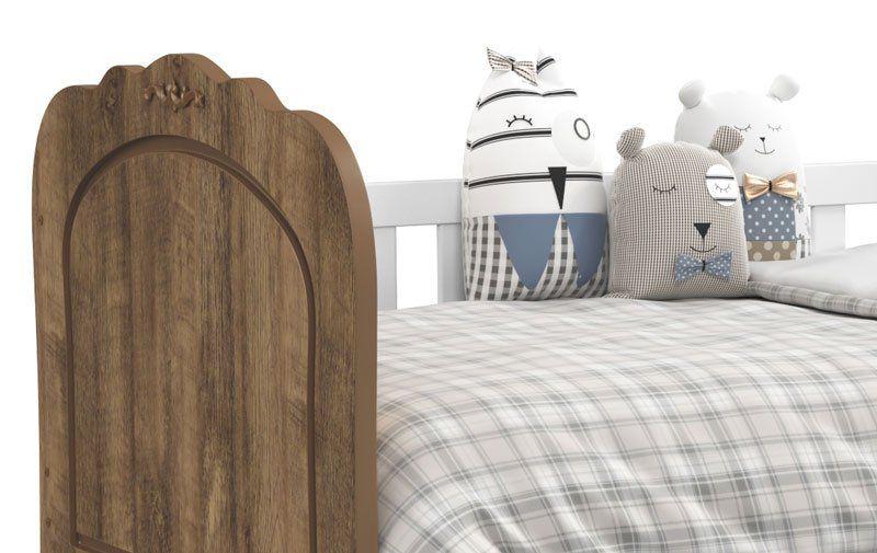 Cama Babá Provence Branco Soft com Teka com Auxiliar - Matic Móveis