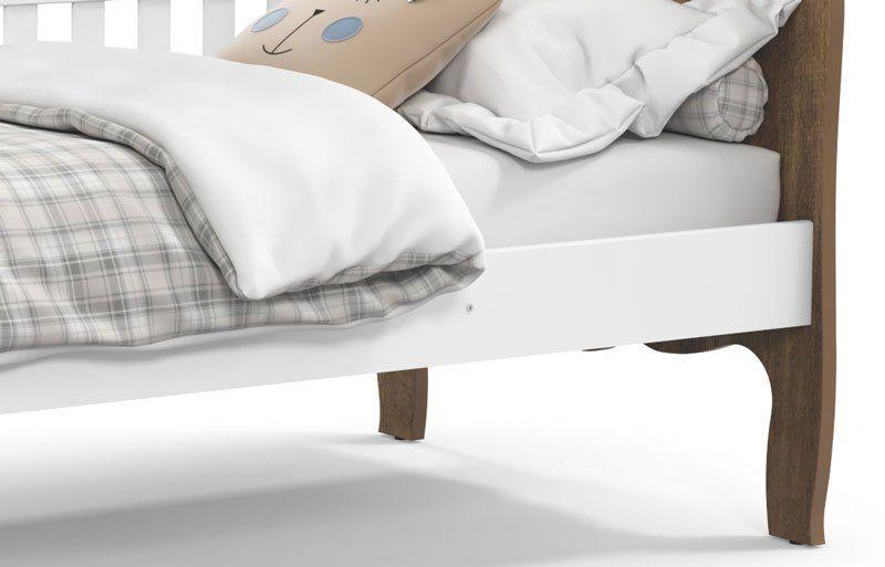 Cama Babá Provence Branco Soft com Teka - Matic Móveis
