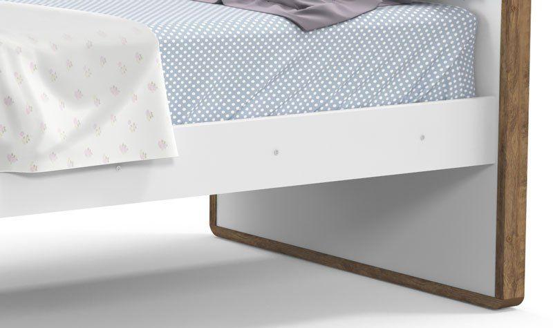 Cama Babá Tutto New Branco Soft com Teka - Matic Móveis