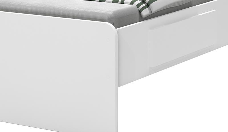 Cama Baú Jade Branco - JeA Móveis