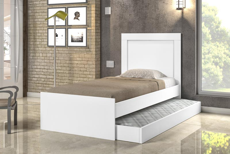 Cama Bibox Luara Branco - Cambel Móveis